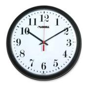 Lorell LLR60989 Wall Clock- 13-.25in.- Arabic Numerals- Black Frame