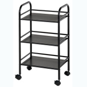 Blue Hills Studio SH3BK 3-Shelf Storage Cart - Black