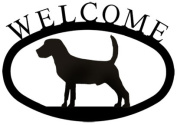 Village Wrought Iron WEL-236-S Welcome Sign-Plaque - Beagle - Dog