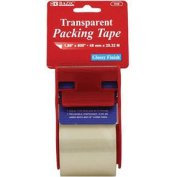 Bazic 936-61cm . x 2032cm . Clear Packing Tape with Dispenser- Pack of 24