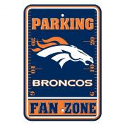 DENVER BRONCOS NFL PLASTIC PARKING SIGN (FAN ZONE)