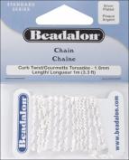 Beadalon 340B032 Curb Twist Chain 1.6mm 3.28/Pkg