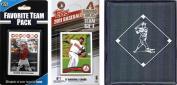 C & I Collectables 2011DBACKSTSC MLB Arizona Diamondbacks Licenced 2011 Topps Team Set and Favourite Player Trading Cards Plus Storage Album