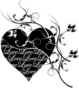 Penny Black 468293 Penny Black Rubber Stamp 8.9cm . x 10cm . -Love Is The Message