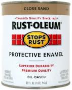 Rustoleum 0.9l Sand Gloss Stops Rust Protective Enamel 7771-502