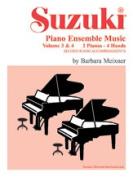 Alfred 00-0752 Suzuki Piano Ensemble Music- Volumes 3& 4 for Piano Duo - Music Book