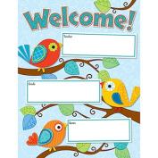 CARSON DELLOSA CD-114190 BOHO BIRDS WELCOME CHART