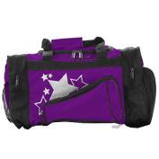Pizzazz Performance Wear B100 -PUR -L B100 Megaphone Duffle Bag - Purple - Large