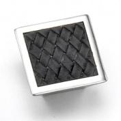 Strategic Brands 12293 1. 160cm Square Knob- Satin Nickel - Black