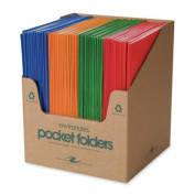 Roaring Spring Paper Products ROA50201 Two Pocket Folders- 11-.190cm .x9-.130cm .- 100-CT- Fashion Asst.