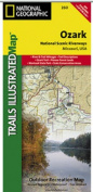 National Geographic TI00000260 Map Of Ozark National Scenic Riverways - Missouri