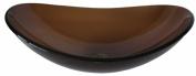 Novatto TIS-324T BABBUCCIA Clear Tea Slipper Glass Vessel Sink 21.5 Inches Wide Brown