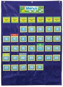 Carson Dellosa CD-158156 Deluxe Calendar Pocket Chart