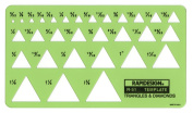 Rapidesign Triangles and Diamonds Template, 1 Each