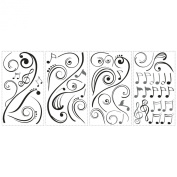 RoomMates RMK2083SCS Music Scroll Notes Peel and Stick Wall Decals