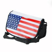Blancho Bedding MB-B016-BLACK US Flag - Black Multi-Purposes Messenger Bag / Shoulder Bag