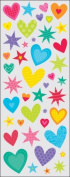 Sticko 473459 Puffy Classic Stickers-Hearts and Stars