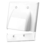 Vanco International 120627X Bulk Cable Hinged Wall Plate Dual Gang White- 120627X