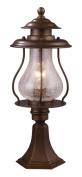 Landmark Lighting 62007-1 Wikshire 1-Light Outdoor Post Mount in Coffee Bronze
