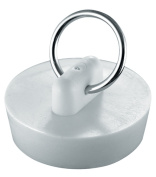 Waxman Consumer Products Group 1-.63.5cm . White Basin Stopper 7512200T