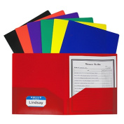 C-Line Products Inc CLI33950 Two Pocket Poly Portfolios 36/Box Assorted Without Prongs
