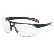 Protege Safety Glasses, Ultra-dura Anti-Scratch, Sandstone Frame, Clear Lens
