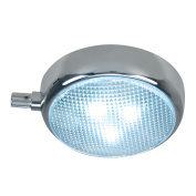 Perko Round Surface Mount LED Dome Light with Adjustable Dimmer - Chrome Plated - 1358DP0CHR
