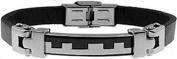 Doma Jewellery DJS00815 Stainless Steel Leather Bracelet