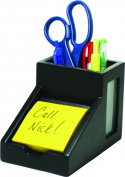 Victor Technology 9505-5 Midnight Black Pencil Cup with Note Holder