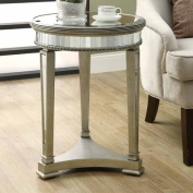 Monarch Specialties I 3705 Mirrored 20 in.Dia Accent Table