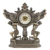 Unicorn Studios WU76007A4 Strong Men Carrying Vessel of Harvest Clock