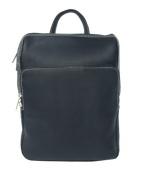 Piel 2401-BLK Black Front Pocket Backpack