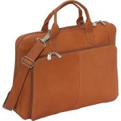 Piel Leather 2565 Slim Modern Portfolio - Saddle