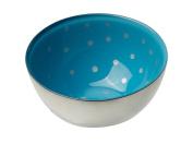 MoMo Panache 807244 Condi Bowls Silver with Blue Dawn and small silver dots pair