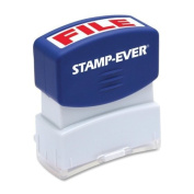 Stamp-Ever Pre-Inked Message Stamp, File, Stamp Impression Size