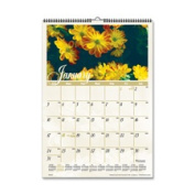 At-A-Glance AAGDMW30028 Monthly Wall Calendar- Jan-Dec- Flower Scenes- 12in.x17