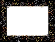 BARKER CREEK & LASTING LESSONS LAS842CIH PEACE BORDER CHART