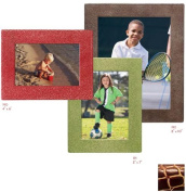Raika JU 191 WINE 13cm x 18cm Square Edge Leather Frame - Wine