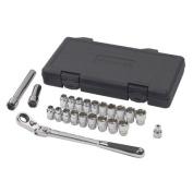 K-D Tools KD 893823 GearWrench 23 Piece- .38 Drive- 20mm Vortex Fractional /Metric XL Pass-Thru Ratchet Set