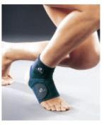 M-Brace 16S Extra Ankle Lock Support Brace - Blue - Size Small