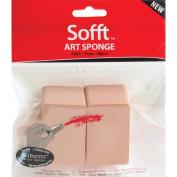 Armadillo Art& Craft 461089 Sofft Art Sponge 2-Pkg-Flat Angle