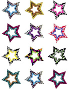 Teacher Created Resources 5216 Fancy Stars Mini Accents