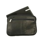 Piel Leather 2931-BLK Mini Zip Laptop Sleeve - Black