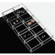 Hardware Distributors RSCA.LGORG.1 Earring Organizer Jewelry Drawer Inserts - Clear