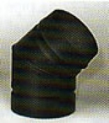 Chimney 77545 8 in. Model DSP Double-Wall Stovepipe 45 Deg Sectioned- Non-adjustable Elbow