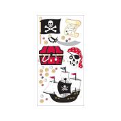 Trends International 319784 Essentials Dimensional Stickers 7cm . x 17cm . Sheet-Pirate Adventure