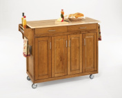 Home Styles 9200-1061 Create-a-Cart 9200 Series Cabinet Kitchen Cart with Wood Top, Cottage Oak Finish