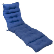 Greendale Home Fashions 180cm Indoor/Outdoor Chaise Lounger Cushion, Marine Blue