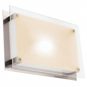 Access Lighting 50034-BS-FST Vision 1 Light Wall Fixture or Flush-Mount - Brushed Steel