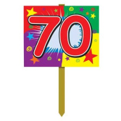 70 Birthday Yard Sign Party Accessory (1 count)